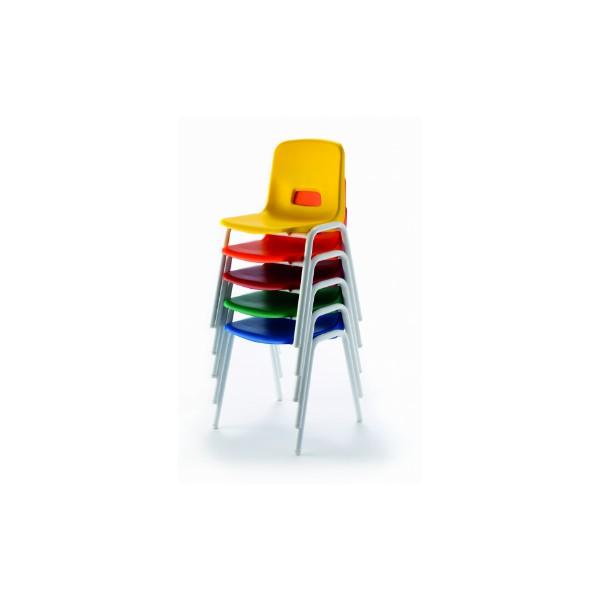 Mo silla mod 209 32cm pp verde pata gris