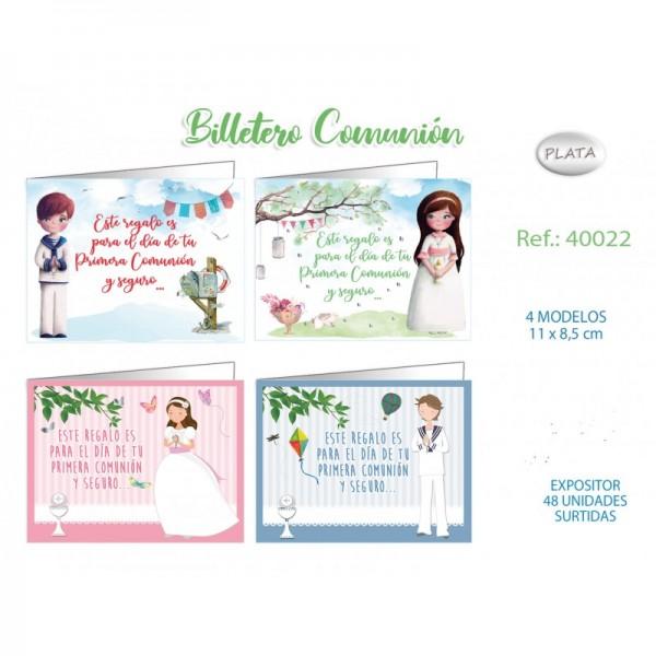 Tarjet billet comunion p48 40022 niño/a